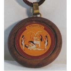 Чиннамастика Янтра (амулет в деревянной рамке, 30 мм)