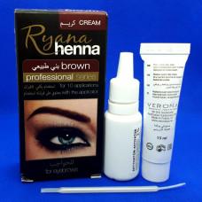 Краска для бровей Ryana Henna Brown (коричневая)