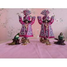 Мурти божеств Гаура Нитай, высота 18 см