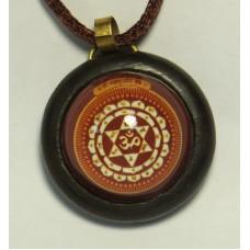 Махасударшана янтра (в деревянной рамке, 30 мм)